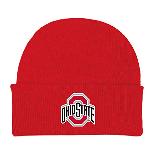 Ohio State Buckeyes NCAA Newborn Baby Knit Hat Cap Red (Ohio State Knit Hat)