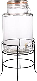 Home Essentials & Beyond 1.5 gallon Bail & Trigger Beverage Dispenser with Rack, Clear (B000S5PNV8) | Amazon price tracker / tracking, Amazon price history charts, Amazon price watches, Amazon price drop alerts