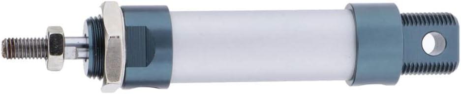 kesoto Slim Luftzylinder Pneumatikzylinder Druckluftzylinder 25mm Bohrung mit Doppeltwirkendem aus Aluminiumlegierung MAL 25x200mm