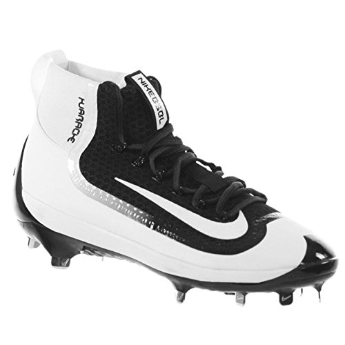 best sneakers 35ea2 07fd9 Nike Mens Air Huarache 2kfilth Elite Mid Baseball Cleat Black White Size 10  M US