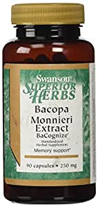 Swanson Bacopa Monnieri Extract Bacognize 250 mg 90 Caps