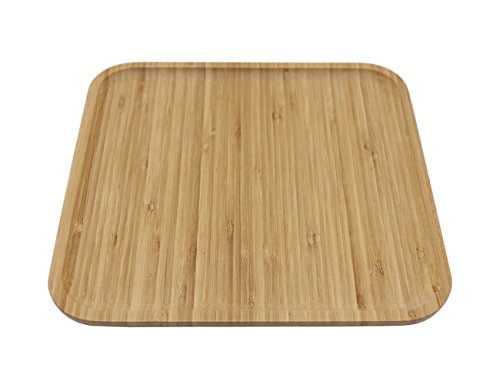 AuroTrends Bamboo Square Tray It can be Used for Drinks, Bread and The Like. Waterproof, Mildew Proof and Insect Proof 11inX11in (Square)