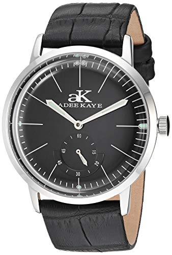 Adee Kaye Men's Mechanical Hand Wind Stainless Steel Watch, Color:Black (Model: AK9044N-MBK-BKL)