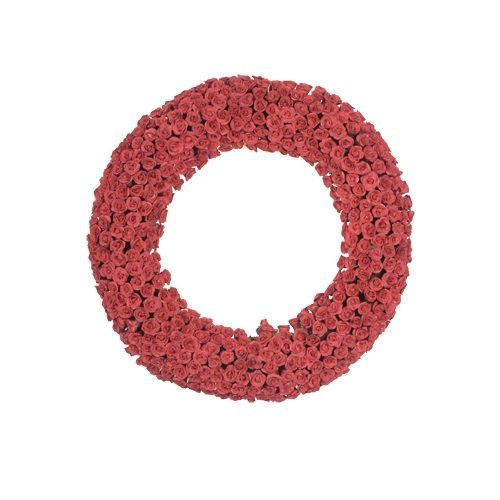 Fantastic Craft FM117 RED Red Rose Wreath, 20
