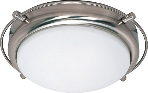 Nuvo Lighting 60/608 Two Light Flush Mount, Brushed ()