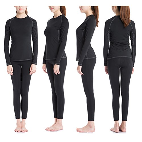 Zhhlaixing Sports Women's Long Sleeve Quick Dry Slim Fit Pro Training Top 2039 Black