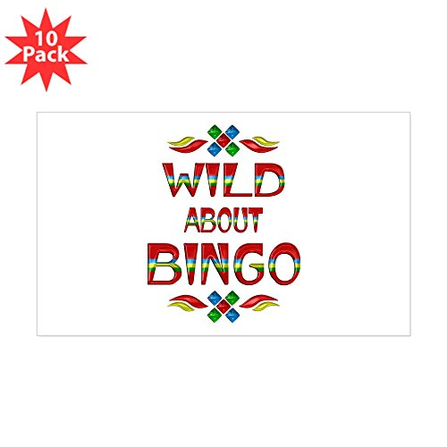 CafePress - Wild About Bingo - Rectangle Bumper Sticker (10-Pack), Car Decal