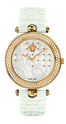 Versace Women's 'Vanitas' Swiss Quartz Stainless Steel and Ceramic Casual Watch, Color:White (Model: VAO060016)