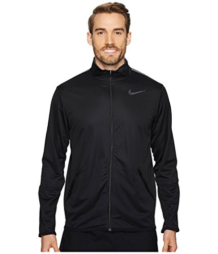 Nike New Mens Epic Training Jacket Black/Dk Grey Medium