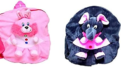 Prachi Toys Combo of Cute Soft Toy School Bag /Travelling Bag/Picnic Soft Toy Bag for Kids (Pack of 2)