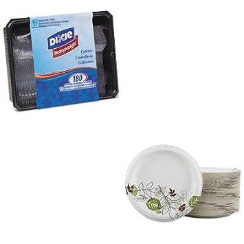 kitdxech0180dx7ctdxesxp9pathpk – Value Kit – Dixie cubertería Keeper bandeja w/Clara utensilios de plástico: