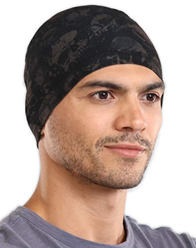 Tough Headwear Sweat Wicking Helmet Liner/Cooling Skull Cap for Men - Helmet & Hard Hat Liner Accessory - UPF 45 Sun Protection ()