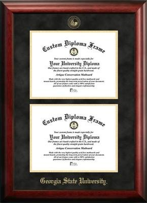 Georgia State University Double Degree Diploma Frame
