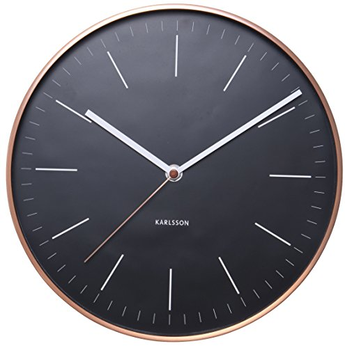 Karlsson Modern Wall Clocks Ka5507Bk - Karlsson Wall Clocks are a perfect home and wall décor item. Wall Hanging Clocks: easy to install with the provided hardware. Simple yet modern design are the hallmark of the renowend Karlsson clocks brand. - wall-clocks, living-room-decor, living-room - 41JwzYekFML -