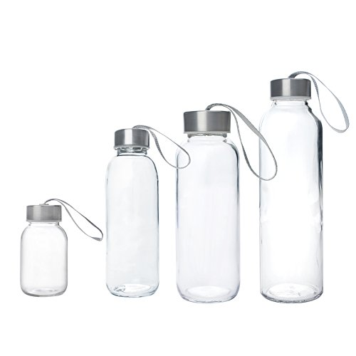 Aspire 5oz , 10oz , 14oz , 18oz Water Bottle, Stainless Steel Caps with Carrying Loop - 17oz