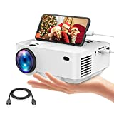 Mini Projector, DBPOWER 2400Lux Synchronizing Smartphone Screen Portable Movie Projector, Video Projector