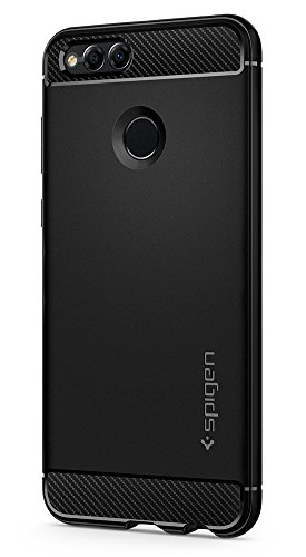 Price comparison product image Spigen Rugged Armor Huawei Honor 7X Case with Resilient Shock Absorption and Carbon Fiber Design for Honor 7X (2017) - Black