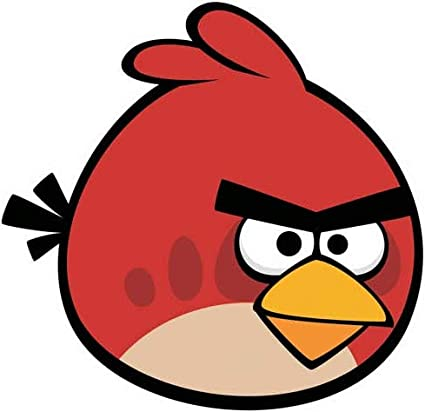 Amazon com: 7 Inch Terence Red Bird Decal Big Brother Angry