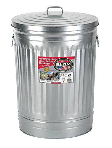 behrens 31gallon trash can with lid