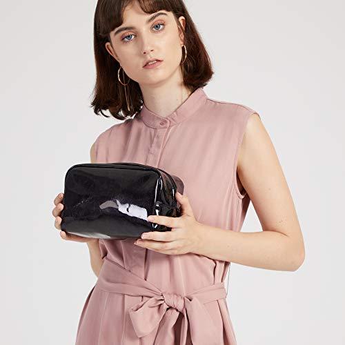 Makeup Bag, iSPECLE Premium Cosmetic Bag for Women Girls Black