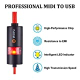 USB MIDI cable Interface midi to USB IN-OUT Cable