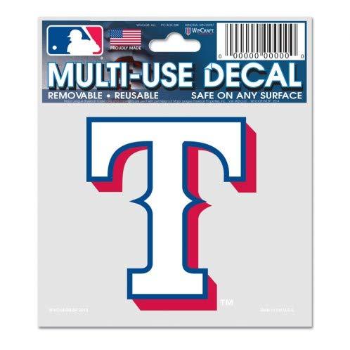 WinCraft MLB Texas Rangers 84403010 Multi-Use Decal, 3