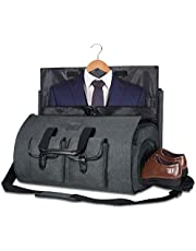 Bolsa de transporte para ropa, bolsa de viaje, bolsa de viaje para fin de semana, bolsa de vuelo con bolsa de zapatos para hombres y mujeres (gris oscuro2)