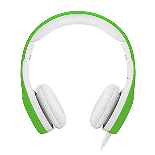 Kids Headphones Volume Limited , Over The Ear Foldable Headphones with Share Connector for Boys Girls Children (Green) by yusonic