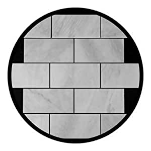 Carrara Marble Italian White Bianco Carrera 3x6 Marble Subway Tile Honed