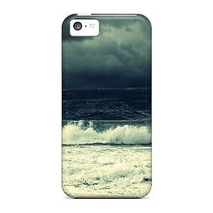 MMZ DIY PHONE CASENew Fashion Premium Tpu Case Cover For iphone 5c - Wave