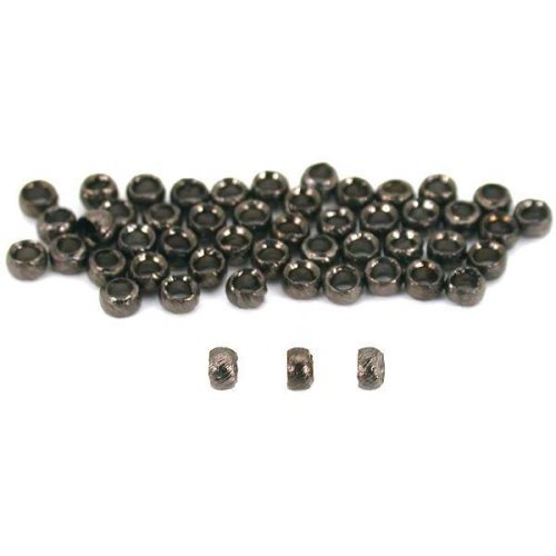 50 Crimp Beads Jewelry Beading Gun Metal Plated 2.5mm