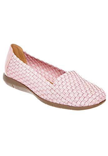 (Comfortview Women's Plus Size The Bethany Flat - Rose Mist, 9 1/2 M)