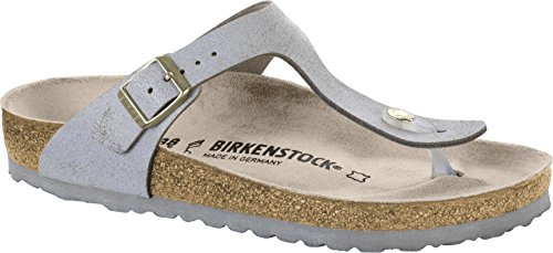 Birkenstock Gizeh Washed Blue Leather Sandal 40 (US Women's 9-9.5)