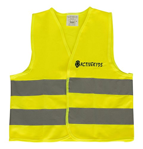 Active Kyds High Visibility Kids Safety Vest for Construction Costume, Biking -