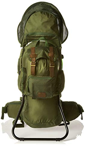 Be Mindful Retro Scout Baby Carrier Backpack in Jungle Green ()