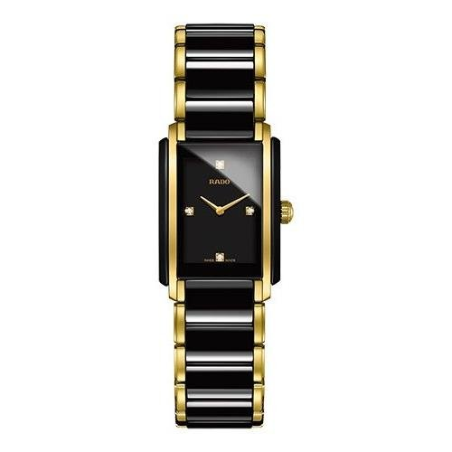Rado Integral Jubile Two-tone Black Ceramic and Gold - Rado Ladies Gold Watch