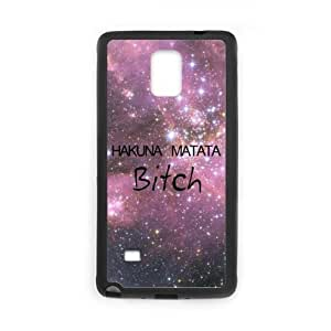 Bitch Purple Galaxy Space Universe Samsung Galaxy Note 4 Plastic and TPU (Laser Technology) Durable Case