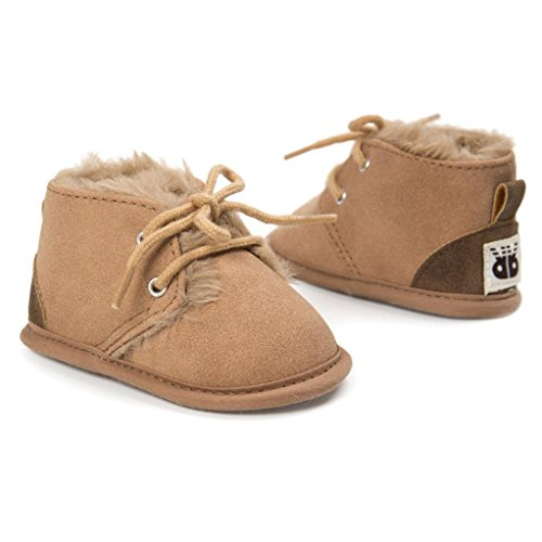 Hunpta Baby Mädchen Jungen Frenulum Baumwolle gepolsterte Schuhe Sneaker Anti-Rutsch Schuhe Khaki