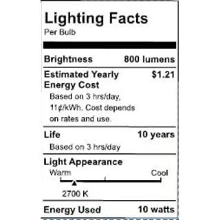 Philips LED 545921 Non-Dimmable A19 Light Bulb: 800-Lumen, 2700-Kelvin, 10 (60 Watt Equivalent), E26 Base, Soft White, 24-Pack, 24 Count