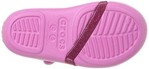 crocs Girls' Lina K Sandal, Party Pink/Candy Pink, 11 M US Little Kid Photo #6