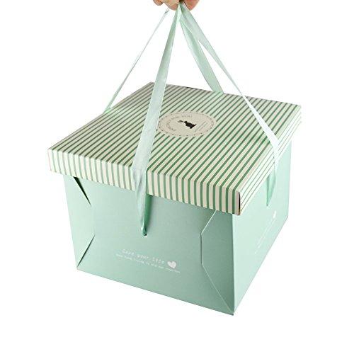 WYTD DIY Portable Big Birthday Cake Bakery Gift Boxes Blue (Set of 6)