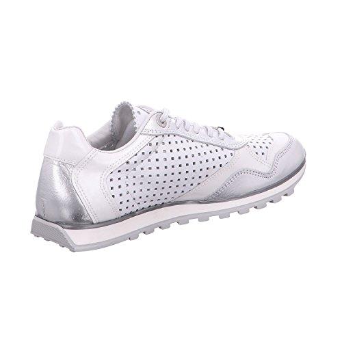 S sra l Cordones De Luxsportiveshoes Zapatos C848 Para Cetti Mujer Weiß lux Plata 65IgqwTx