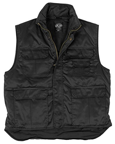 Blouson de Ranger / Veste Intérieure Noir (T.S-6XL) avec poches - Noir, XL