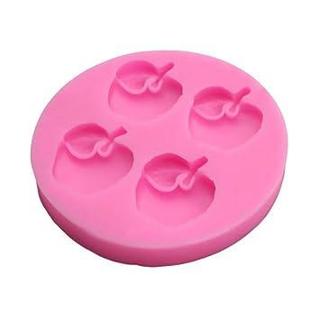 Molde de silicona para tartas con forma de manzana, 2 unidades: Amazon.es: Hogar