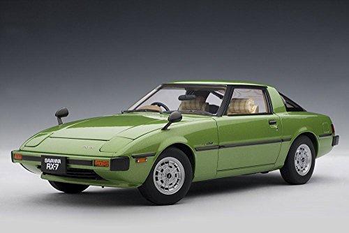 Mazda Savanna RX-7 (SA), Green - Auto Art 75981 - 1/18 Scale Collectible Diecast Replica
