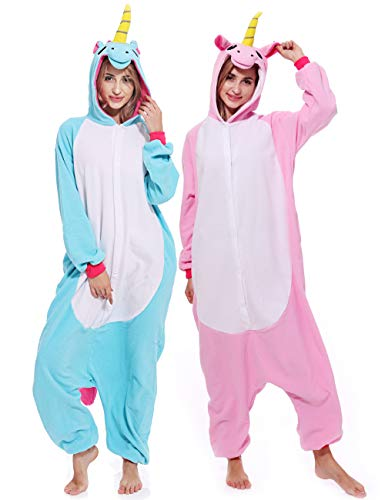 Adult Unisex Unicorn Onesie Pajamas Animal Costume Cosplay Sleepwear Pajamas for Women Men Teens …