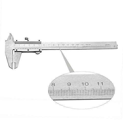 Your Supermart Portable Metal Millimeter Vernier Slide Caliper Ruler Gauge Measuring Tool