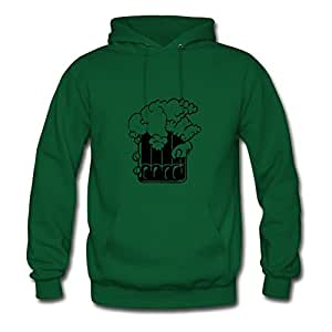 Women Beer Froth One Colour Designed Different Cotton Green Sweatshirts X-large