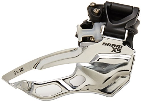 SRAM X5 Bicycle Front Derailleur with 3 x 10 High-Clamp 318/349 Black Bottom Pull