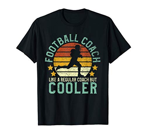 Mens Football Coach | Funny American Football Team Coaching Gift T-Shirt (Football Coach Shirts With Stripe On Back)
